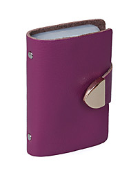 Mega Fashion Leather Lover Card Holder (Purple)
