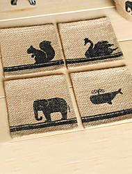 Estampa de Animal Roupa Coaster - Conjunto de 2 (Random Projeto)
