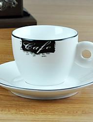 Café Elegant Coffee Mug, Porcelain 6oz