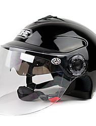 350a hochwertige Motorradhalbhelm mit Sonnenbrille