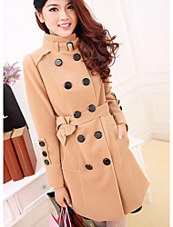 Women's Coats & Jackets , Wool Casual BZQ