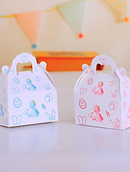 Handbag Shaped Favor Boxes for Baby Shower - Set of 12 (More Colors)
