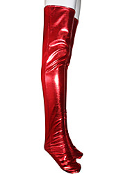 Socks/Stockings Ninja Zentai Cosplay Costumes Red Solid Stockings Shiny Metallic Unisex Halloween / Christmas