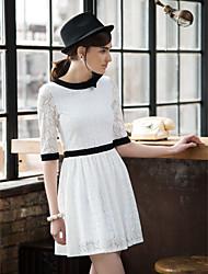 TS Vintage Simplicity Color Block Dress
