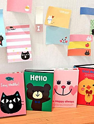 Cartoon Animal Pattern Folding Self-Stick Note(Random Color)