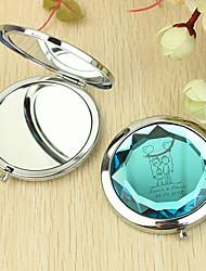 Coeur cadeau personnalisé et modèle amant Chrome miroir compact