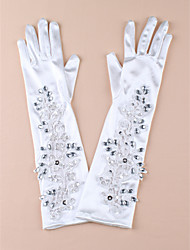 Elbow Length Fingertips Glove Satin Bridal Gloves/Party/ Evening Gloves
