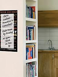 Programma settimana, sfoderabile, lavabile, Lavagna Wall Stickers