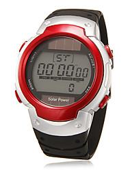 Masculino Relógio de Pulso Relogio digital LCD Calendário Cronógrafo alarme Digital Borracha Banda Preta