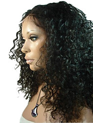 16inch Garantido 100% brasileira do cabelo humano de alta qualidade peruca dianteira do laço