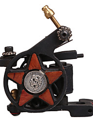 Low-Carbon Steel Five-pointed Star Style Tattoo Machine for Liner and Shader
