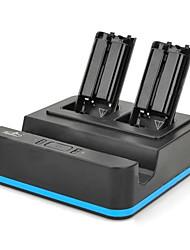 Емкость 1800mAh батареи контроллер зарядное устройство 3 в 1 для Nintendo Wii U