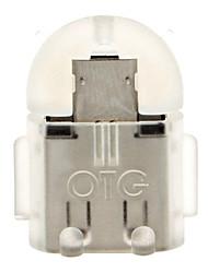 Micro USB 2.0 vers USB 2.0 M / F OTG adaptateur Gris