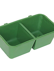 Dual Square Shape Feed Water Feeder for Pets Birds Parrots