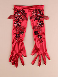 Ellebooglengte Vingertoppen Satijn Bruidshandschoenen/Feest/uitgaanshandschoenen Handschoen