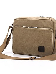 Men Bags All Seasons Canvas Shoulder Bag with for Casual Beige Gray Brown Green Cream