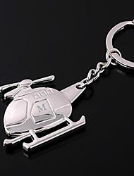Chaveiro personalizado helicóptero gravado em forma de presente