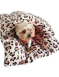 Slippers Stylish Soft Warm Leopard Kitty Sleeping Bag Bed Pad for Pets Cats