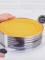 flexível rodada molde de cozimento, de metal de diâmetro 26-30cm de altura 9 centímetros