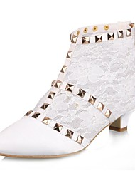 Women's Wedding Shoes Pointed Toe/Fashion Boots Boots Wedding Ivory/White