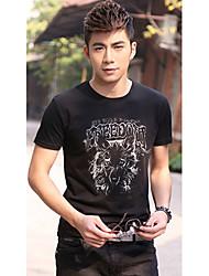 D & M Mannen Wolf Zwarte T-shirt