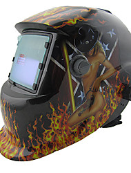 Cool Pattern LI Battery Solar Auto Darkening Electric Welding Helmet