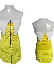 Cute Banana Girl Yellow Velvet Women's Costume