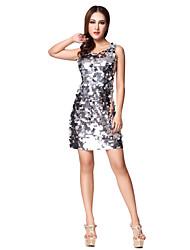 Jazz Dancewear Women's Mature Geometric Sequined Polyamide Sleeveless Dance Dress(More Colors)