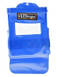 Bingo PVC grande azul Funda impermeable para el teléfono de 5,5 pulgadas o mini cámara