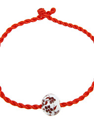 Weinlese-Rope Red Acryl Frauen Armband