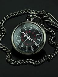 Cadran noir foncé quartz d'alliage de montre de poche des hommes