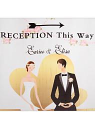 sposa decorazioni di nozze personalizzati& Indicatore sposo