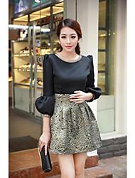 Madesha Women's Embroidery Black Dress