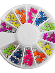 Mixed Candy Color Fluorescent Star-shaped Nail Art Decorations
