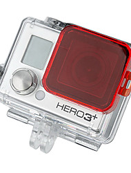 Red GoPro HD Hero 3+ PC Under Sea Filter Cover