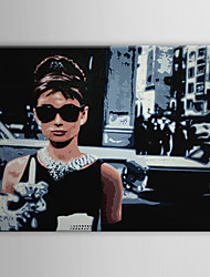 toile tendue art pop art gens Audrey Hepburn de Breakfast at Tiffany prêt à accrocher