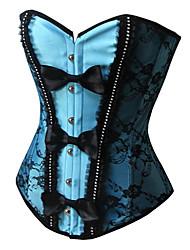 Satin devant Busk fermeture de corset shapewear avec Bow
