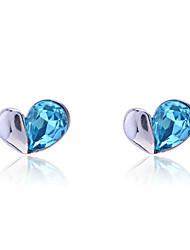 Korean  Fashion Drill Small Hearts Stud Earrings