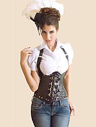 Serre Taille Vêtement de nuit Femme Couleur Pleine Noir Aux femmes