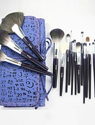 19Pcs Professional Cosmetic Makeup Brush Set with Free Leather Case