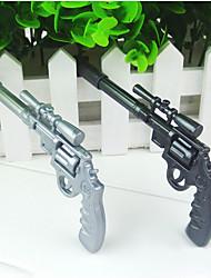 caneta esferográfica projeto pistola giratória cool (cor aleatória, 2 peças)