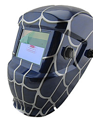 Spider Web Pattern LI Battery Solar Auto Darkening Electric Welding Helmet