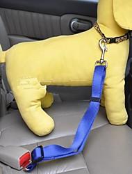Cães Cinto de Segurança para Cães / Cinto de segurança Retratável / Segurança Sólido Vermelho / Preto / Azul / Rosa / Púrpura Náilon