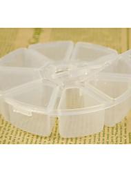 Minimalist Transparent Round Multifunctional Storage Box - 8 Grids