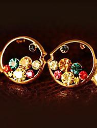 BBL Women's Colorful Diamonade Cut Out Fish Fashionable Elegant Earrings