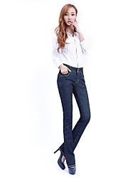 Women's Blue Denim Pant , Work