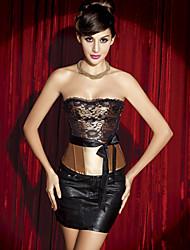 imitação de seda e fecho de zíper espartilho shapewear (mais cores) sexy lingerie shaper
