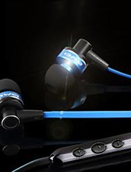 Platte kabel stijl in-ear koptelefoon met microfoon (verschillende kleuren)