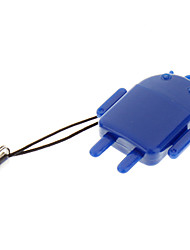 Leitor de cartão de memória USB (vermelho / roxo / azul / verde)