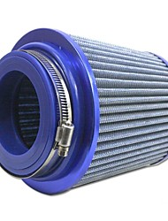 "Tirol ronde verminderde universele Auto Cold Air Intake / 3 ""76-88-101mm Air Filter (Blauw / Rood)"